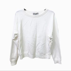 Everlane White Crew Neck Sweater